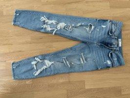 Zara Jeansy typu boyfriend błękitny
