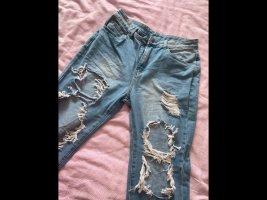 SheIn Pantalon boyfriend bleu azur