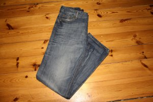 H&M Boyfriend Jeans steel blue cotton