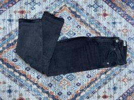 Pull & Bear Spodnie typu boyfriend antracyt