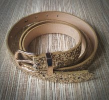 b.p.c. Bonprix Collection Faux Leather Belt gold-colored