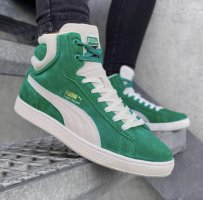 Puma High top sneaker wolwit-bos Groen