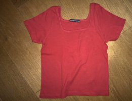 Brandy & Melville Cropped shirt rood-donkerrood