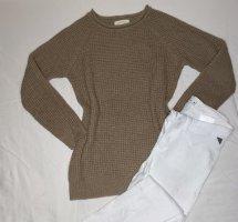 Jersey de punto grueso beige-marrón