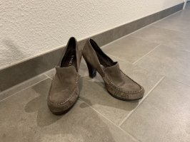 Biviel Classic Court Shoe taupe-grey brown