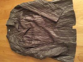 Braun/Graue Sommerjacke / Blazer mit Knittereffekt