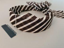 Accessoires Serre-tête blanc-brun foncé
