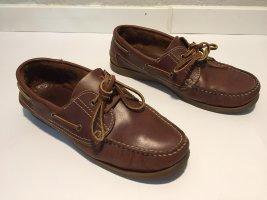 Highmoore Zapatos de marinero marrón Cuero
