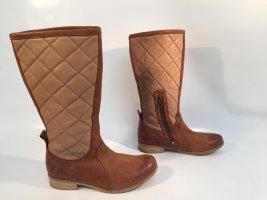 """Braune """"J.Shoes"""" Stiefel aus gestepptem Leder Gr.37"""