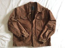 Braune Jacke aus echtem Leder von Nicolas Scholz