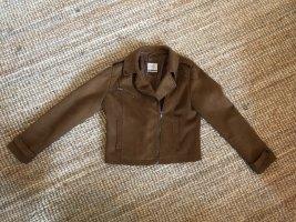 C&A Clockhouse Veste motard brun