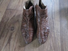 braune Leder-Stiefeletten