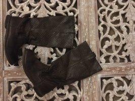 Rijlaarzen zwart bruin-brons Leer