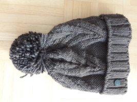 Bogner Fire + Ice Wełniana czapka szaro-brązowy Wełna