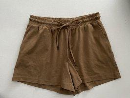 braune Shorts in Wild leder optik kurze Hose 36 S