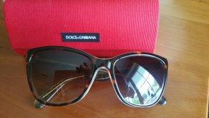 Dolce & Gabbana Occhiale da sole spigoloso sabbia-marrone