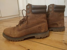 Timberland Combat Boots light brown leather
