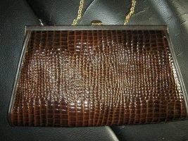braune Vintage-Handtasche