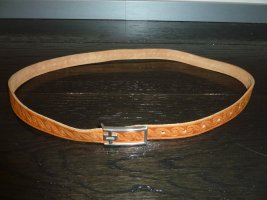 no name Leather Belt sand brown