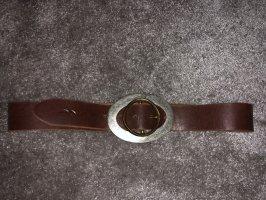 LTB Ceinture en cuir brun-brun foncé