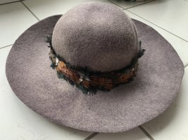 Cappello a falde larghe marrone