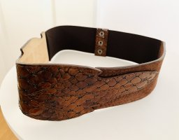 0039 Italy Leather Belt cognac-coloured-brown leather
