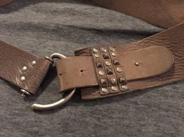 Studded Belt brown leather