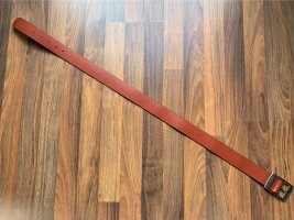 Esprit Leather Belt cognac-coloured