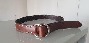 Marc O'Polo Cintura di pelle marrone