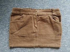 Brauner Minirock - Cord - Größe S/M