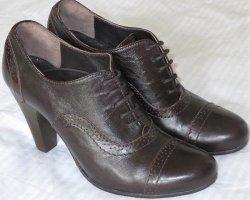 Alberto Fermani Sznurowane buty ciemnobrązowy Skóra