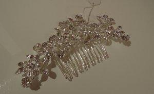 Braut Haarschmuck Fascinator Brautschmuck für Brautfrisur Haarkamm Kunst Perlen ungetragen