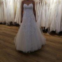 KLEEMEIER Suknia ślubna kremowy-w kolorze białej wełny