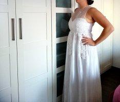 Brautkleid Hochzeit Kleid neu Spitze Tüll A-Linie Hochzeitskleid weiß