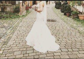 Diane le Grand Abito da sposa bianco