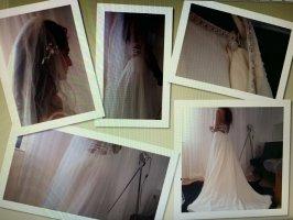 Private Label Robe de mariée blanc-crème mousseline de soie