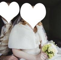 Brautumhang, Schulterjäckchen, Brautcape, Brautstola, Brautbolero für Winterhochzeit