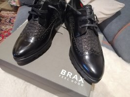 Brax feel Good Wingtip Shoes black