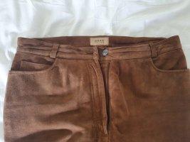 Brax Pantalone in pelle marrone