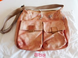 Bree Schoudertas stoffig roze beige Leer