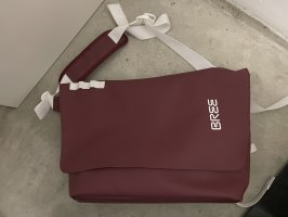 Bree Gekruiste tas karmijn-wit Polyester