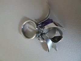 Breil Anello di fidanzamento argento-viola scuro
