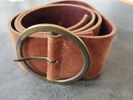 H&M Cinturón de cuero color oro-marrón