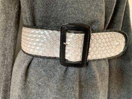 Cintura intrecciata multicolore Pelle