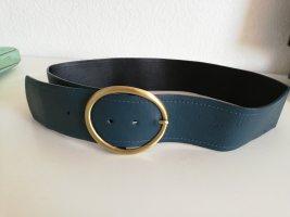 Cinturón pélvico color oro-petróleo