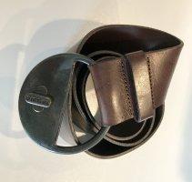 Diesel Leather Belt dark brown leather
