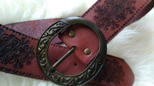 Breiter Ledergürtel mit großer Schnalle Westerngürtel Pimkie