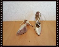 BRENDA ZARO High Heels Pumps Damenschuhe Gr. 40 - 11cm Absätze gold