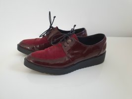 Brenda Zaro Wingtip Shoes carmine-bordeaux