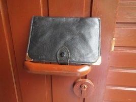 Brieftasche, Damen, Herren, schwarz,Leder